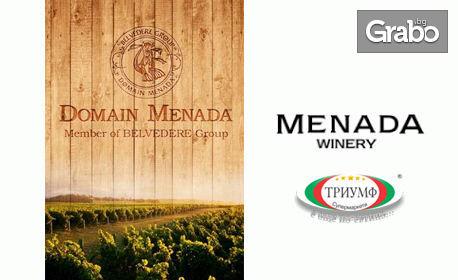4 броя охладена изчистена пъстърва и бутилка вино Менада