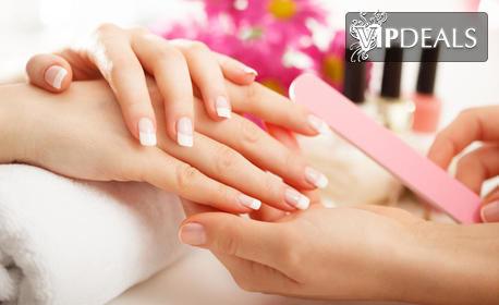 Маникюр с гел лак SND, плюс масаж на ръце