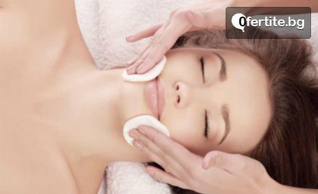 Почистване на лице с ултразвук, плюс терапия за лице и шия според нуждите на кожата