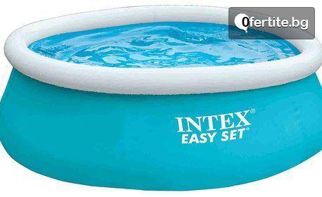 За летни емоции в градината! Голям надуваем басейн Intex Easy Set