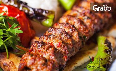Куверт за 8 Март със салата, основно ястие и десерт по избор, плюс чаша вино или ракия и жива музика