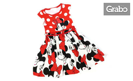 Детска рокля с Мини Маус
