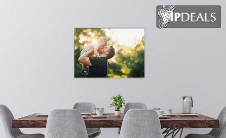 Стилен подарък за дома! Канава с ваша снимка или по избор от галерията - в различни размери