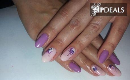 Маникюр с гел лак ProNails, гел върху естествени нокти или ноктопластика