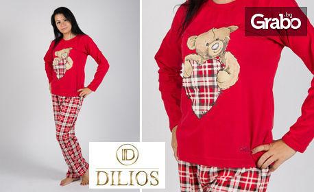 """Дамска пижама от 100% памук - модел """"Lovely Red"""" или """"Арт"""""""