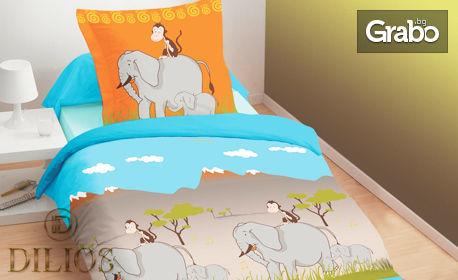 Единичен спален комплект от Ранфорс 100% памук, в десен по избор