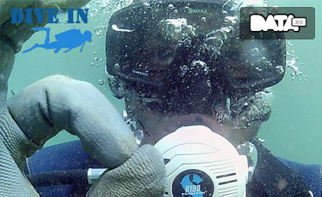 Водолазно гмуркане от Черноморец за двама с екипировка и инструктор, плюс подводни снимки и видео