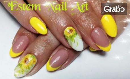 Маникюр с лак или гел лак или поставяне на гел върху естествен нокът - без или със декорации