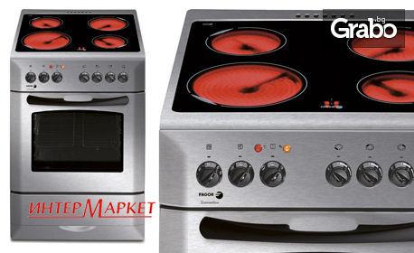 Готварска печка Fagor 3CF-4VAX, размер 60см, стъклокерамичен плот