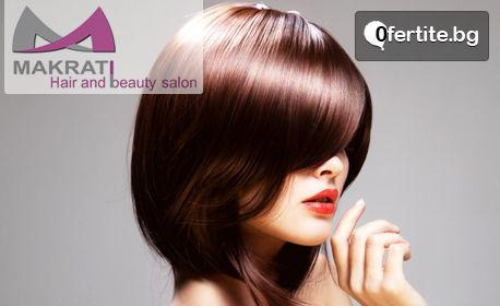 Терапия за увредена коса с ултразвукова преса и продукти L'Oréal, плюс оформяне