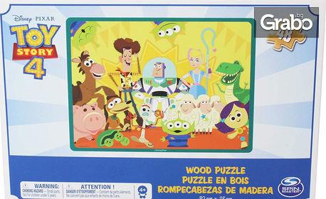 """Детски дървен пъзел """"Играта на играчките"""" с 48 части"""