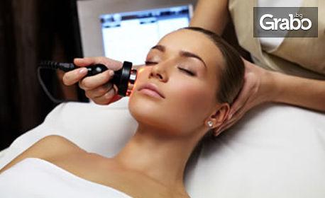 Триполярен RF лифтинг на лице, околоочен контур, шия и деколте, с хиалуронов серум и серум със златни частици