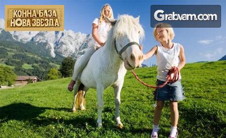 3 часа и половина детски рожден ден за 10 деца с конна езда, батут и въжен тролей