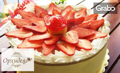 Еклерова торта с шоколад или пресни ягоди
