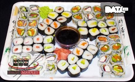 Суши сет с 64, 76, 80 или 100 хапки