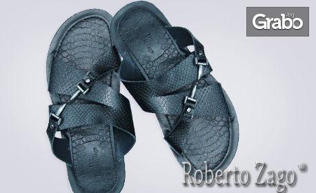 Летни мъжки чехли в черен или кафяв цвят