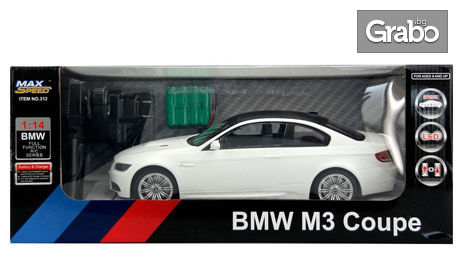 Детски автомобил BMW M3 Coupe с дистанционно управление и LED осветление