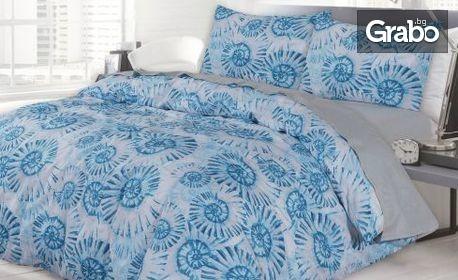Единичен спален комплект от 100% памук ранфорс - с безплатна доставка