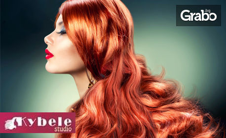 Терапия за боядисана коса или боядисване, плюс оформяне със сешоар