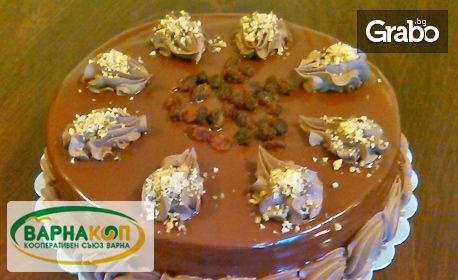 """Шоколадова торта с орехи и стафиди или торта """"Горски плодове"""""""