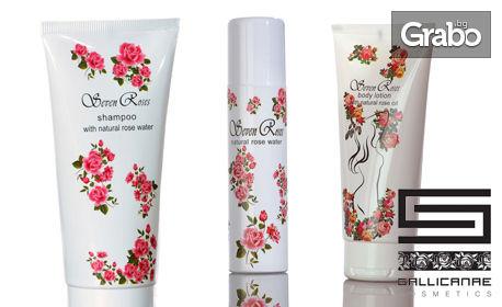 Натурална козметика Seven Roses! Подхранващ, стягащ и хидратиращ лосион за тяло, или Розова вода и възстановяващ шампоан