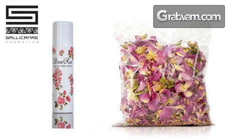 """Био сертифициран розов цвят или опаковка Натурална розова вода """"Seven Roses"""" - спрей"""