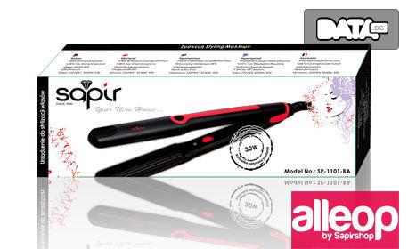 """Преса за коса с керамично покритие Sapir - за обем тип """"вафлички"""""""