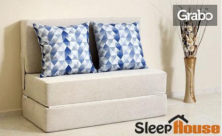 Разтегателен диван - легло Easy с 2 декоративни възглавници - в цвят
