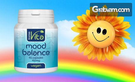 Хранителна добавка Mood balance - веган капсули за добро настроение и спокоен сън