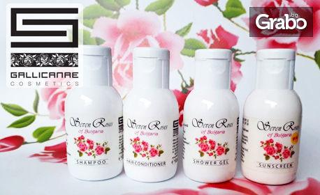 За косата и кожата през лятото! Комплект за пътуване с 4 продукта или луксозна подаръчна кутия със 7 продукта Seven Roses