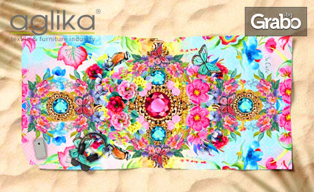 Плажна кърпа Summer Vibes в десен по избор
