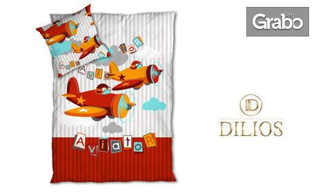 Детски единичен спален комплект от Ранфорс, 100% памук, в десен по избор