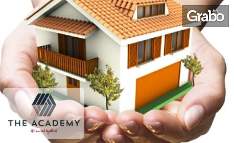 """Онлайн курс """"Брокерство и оценяване на недвижими имоти"""" - с достъп до платформата за 1 месец и сертификат"""