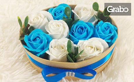 Луксозна кутия с 5, 7, 9 или 11 сапунени рози