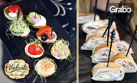 10 броя клуб-сандвич, мини бургер или мини пица - за вкъщи
