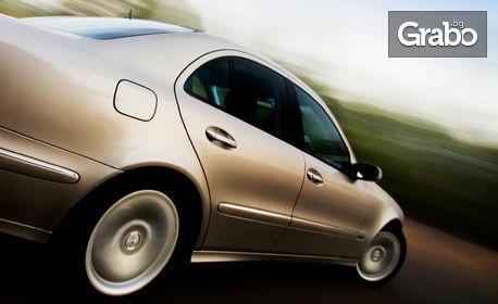 Смяна на 2 броя гуми до 17 цола, плюс тест на амортисьори на 2 колела