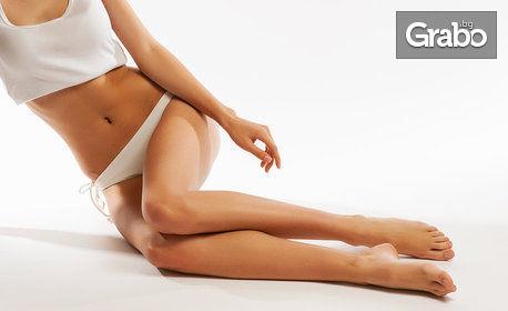 Антицелулитен масаж със специални масла на бедра, седалище, корем, талия и паласки