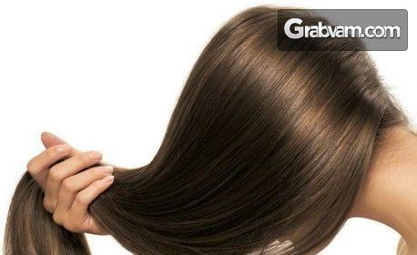 Натурална енергизираща терапия против косопад и за бърз растеж на косата, плюс процедура с Д'арсонвал и оформяне