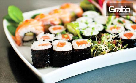 Суши сет с 10 или 12 хапки, или комбо гранде суши със 17 хапки