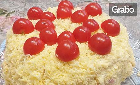 Солена палачинкова торта с 12 парчета