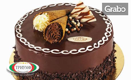 Торта Шоколадов вкус, плюс 1 литър сок Queen's по избор