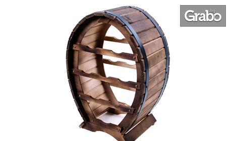 Дървена поставка за 4 или 8 бутилки