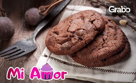 6 броя ръчно приготвени мъфини или 400гр домашни шоколадови бисквити