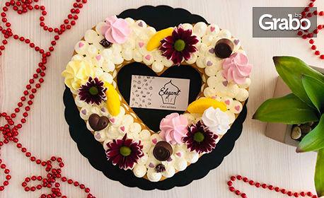"""Сладко изкушение за вкъщи! Торта """"Elegant"""" във форма на сърце"""