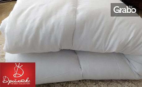 Зимна завивка със силиконов пълнеж, размер по избор - в бял цвят или с мечета