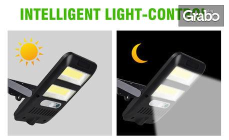 Соларна LED лампа за стена с фотоклетка