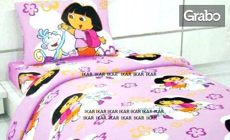 Детски спален комплект с любим герой - от три части, 100% памук