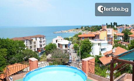 През Септември в Черноморец! Нощувка със закуска - на 50м от брега на морето
