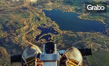 Тандемен полет с двуместен парапланер, плюс заснемане с HD Action камера