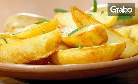 Вкусна пъстърва на скара с билкови картофки
